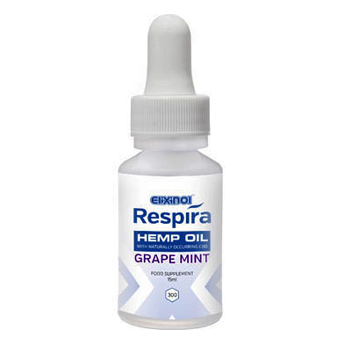Respira Hemp Oil 300mg Grape Mint Flavour CBD Vape Oil - 15ml